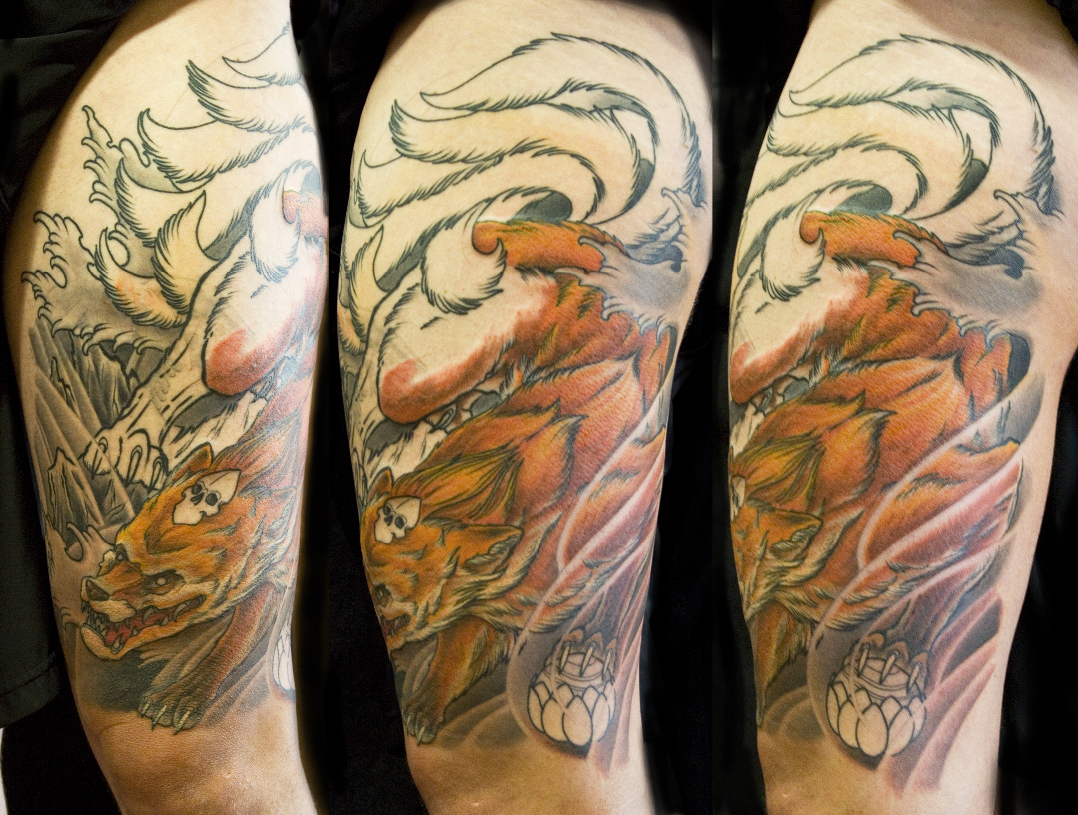 Traditional Kitsune Tattoo: Japanese Kitsune Tattoo By Chris Walkin Of