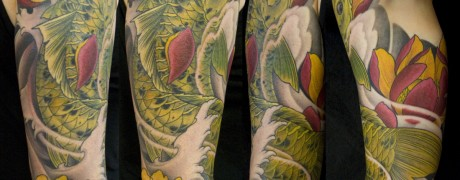 Koi Japanese 3/4 Sleeve by Chris Walkin