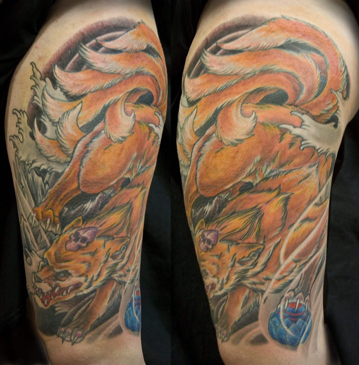 Traditional Kitsune Tattoo: Chris Walkin Tattooing In Lake Charles